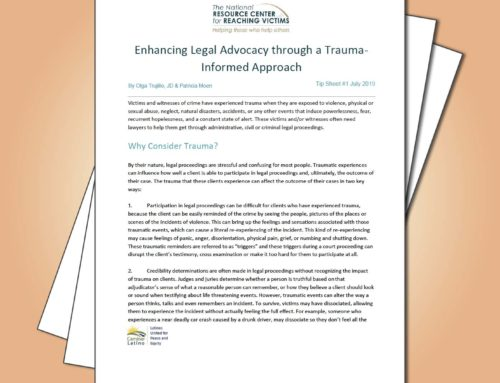 Olga Trujillo, JD and Patricia Moen Share Tips on Trauma- Informed Approach